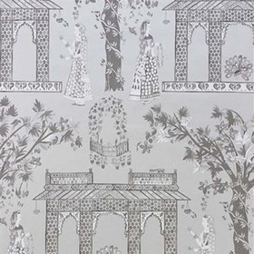 Nina Campbell Pavilion Garden Silver-Charcoal NCW4272-02