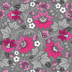 Russian Fairytale Milana Hot Pink-Grey MILHPG10002