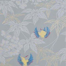 Osborne & Little Grove Garden Grey-Yellow-Cameo Blue W5603-09