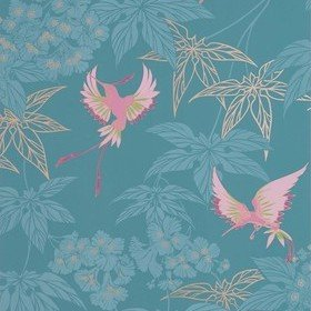 Osborne & Little Grove Garden Teal-Pink W5603-10