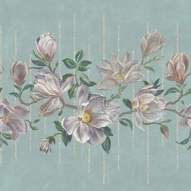 Osborne & Little Magnolia Frieze Aqua-Ochre W7338-02