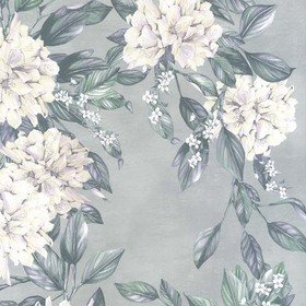 Osborne & Little Rhodora White-Teal-Gilver W7022-04
