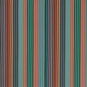 Osborne & Little Supreme Stripe Rust-Steel-Jade F7321-02