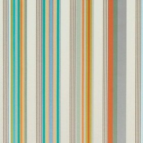 Osborne & Little Valli Stripe Clementine-Jade-Cream F7324-03