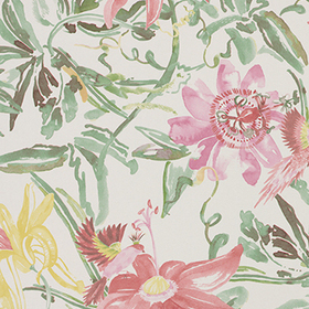 Coordonne Flowers Pink-Green-Yellow 4800034