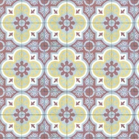 Coordonne Mandala Yellow-Terracotta-Grey 3000018
