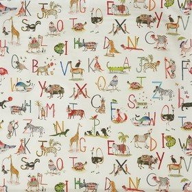 Prestigious Textiles Animal Alphabet Fudge 8628-196