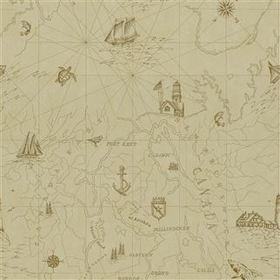 Ralph Lauren Searsport Map Parchment PRL5027-02