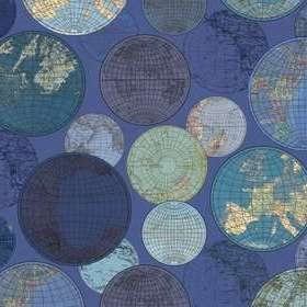 Rebel Walls Globes Gathering Blue R13883