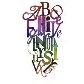 Rebel Walls Ink Letters Rainbow R12492