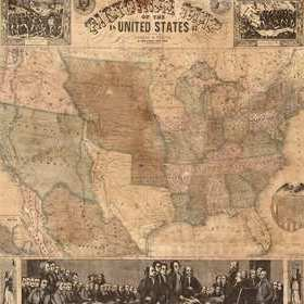Rebel Walls Pictorial Map Of The U.S. R11431