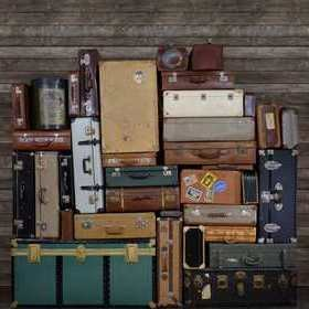 Rebel Walls Stacked Suitcases Heap R14062