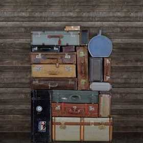Rebel Walls Stacked Suitcases Pile R14063