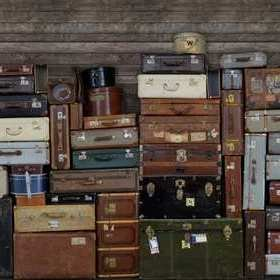 Rebel Walls Stacked Suitcases R14061