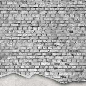 Rebel Walls Well-Worn Brick Wall White R12224