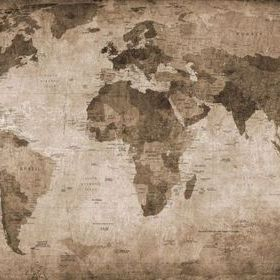 Rebel Walls World Map Brown R10772