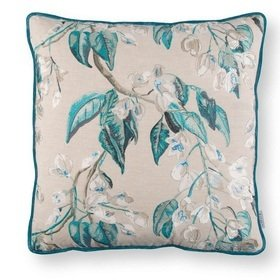 Romo Wisteria Embroidery Cushion Peacock RC706-02