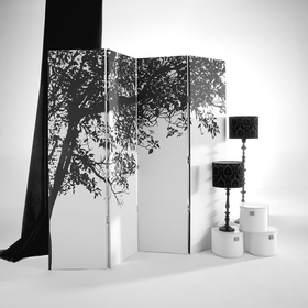 Arthouse Trees Silhouette Screen 008148