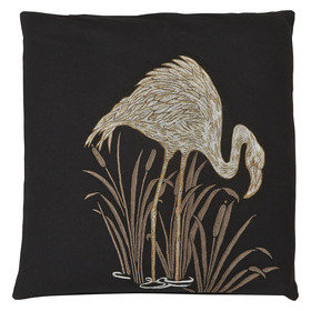 S.J. Dixon Lagoon Embroidered Cushion Black 008247