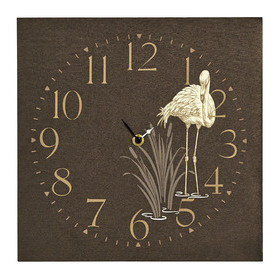 S.J. Dixon Lagoon Wooden Clock Black 008241