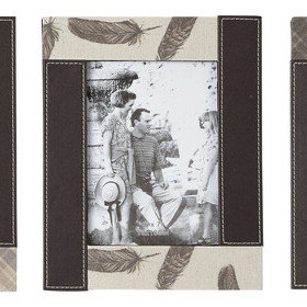 S.J. Dixon Set Of 3 Faux Leather Photograph Frames 008260