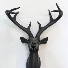 S.J. Dixon Stag Head Black 008152