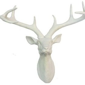 S.J. Dixon Stag Head White 008151