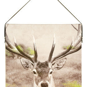S.J. Dixon Stag Printed Canvas With Faux Leather Hanging Strap 003701