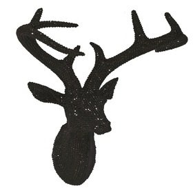 S.J. Dixon Star Studded Stag Head Black 008195
