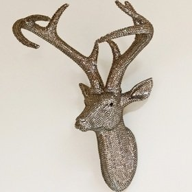 S.J. Dixon Star Studded Stag Head Pewter 008217