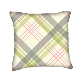 S.J. Dixon Fairburn Cushion Pink-Green Tartan 008250