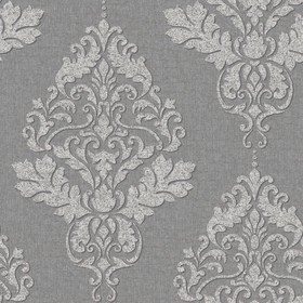 S.J. Dixon Hadrian Damask Dark Grey 35509