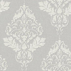S.J Dixon Hadrian Damask Soft Grey 35507