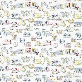 Sanderson Alphabet Zoo Embroidery Rainbow Brights 233924