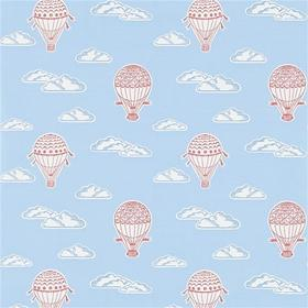 Sanderson Balloons Sky Blue-Red 214030