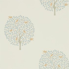 Sanderson Bay Tree Copper-Denim 216361