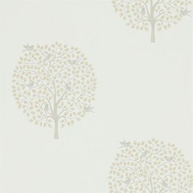 Sanderson Bay Tree Linen-Dove 216362