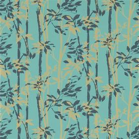 Sanderson Beechgrove Teal-Gold 214573
