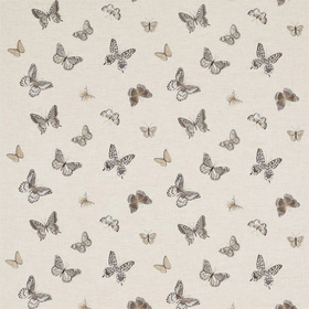 Sanderson Butterfly Embroidery Charcoal-Walnut DWOW235600