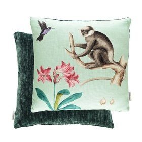 Sanderson Capuchins Monkey Sea Green 254801