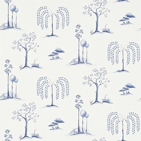 Sanderson Willow Tree Blue-Ivory 213724