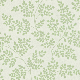 Sanderson Coralie Leaf Green-Ivory DCAVCO103