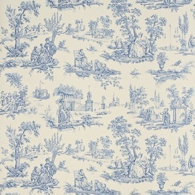 Sanderson Courting Toile Cream-Blue DEGTCT101