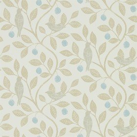 Sanderson Damson Tree Denim-Barley 216364