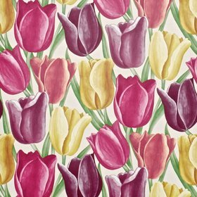 Sanderson Early Tulips Aubergine-Cherry Red DVIWEA103