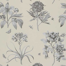 Sanderson Etchings & Roses Ivory DPFWER106