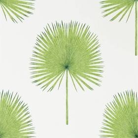Sanderson Fan Palm Botanical Green 216636