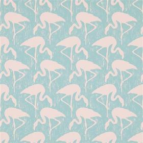 Sanderson Flamingos Turquoise-Pink 214569