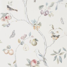 Sanderson Fruit Aviary Cream-Multi 216314