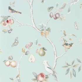 Sanderson Fruit Aviary Duck Egg-Multi 216312